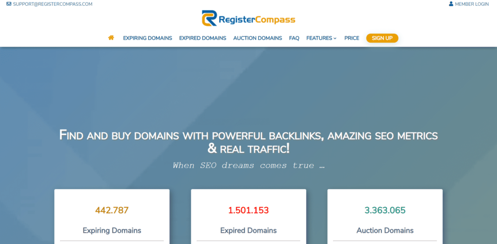 FireShot Capture 393 ▷ Search for Domains with Authority Links and SEO metics www.registercompass.com